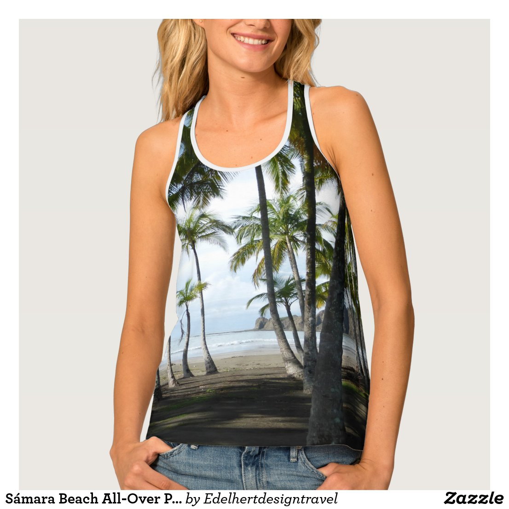 Sámara Beach All-Over Print Tank Top
