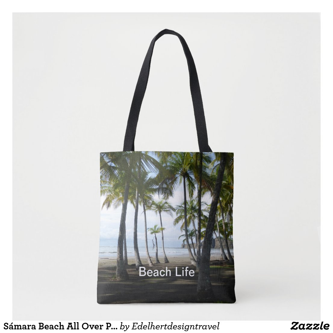 Sámara Beach All Over Print Tote Bag