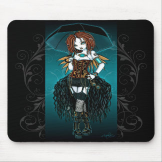 """""""Samara""""  Steampunk Cyber Fairy Mousepad"""