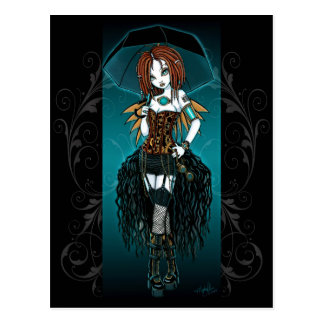 """Samara""  Steampunk Cyber Fairy Postcard"