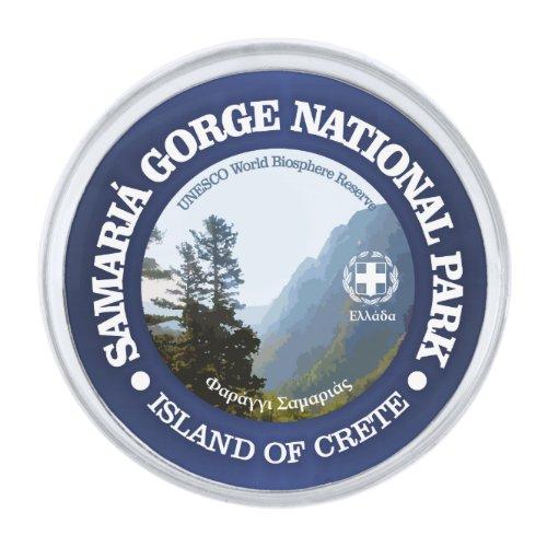 Samaria Gorge National Park Silver Finish Lapel Pin