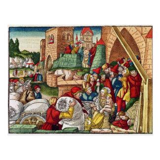 Samaria under siege postcard