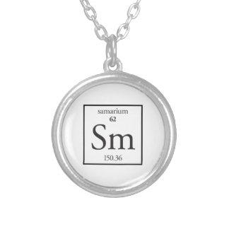 Samarium Silver Plated Necklace