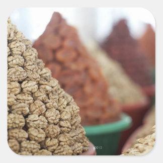 Samarkand, Uzbekistan. Nuts and apricots for Square Sticker