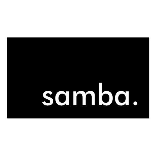 samba. business cards