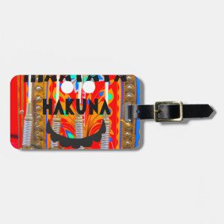 Samba Carnival colors Hakuna Matata blings.png Luggage Tag