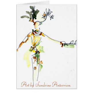 Samba character by Sandrine Anterrion Greeting Cards