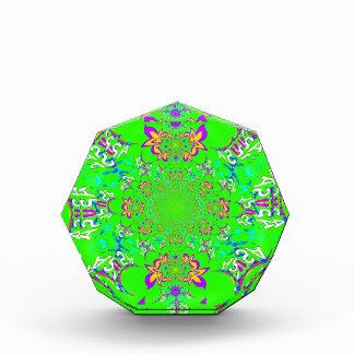 Samba Colorful Bright floral damask design colors Acrylic Award