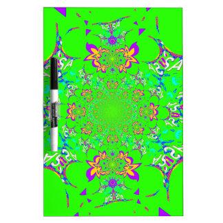 Samba Colorful Bright floral damask design colors Dry Erase Board