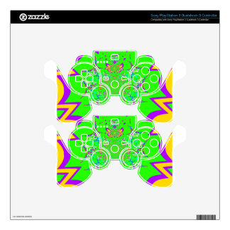Samba Colorful Bright floral damask design colors PS3 Controller Decal