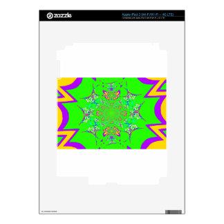 Samba Colorful Bright floral damask design colors Skins For iPad 3