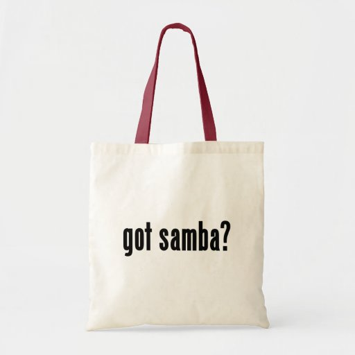 ¿samba conseguida? bolsas lienzo