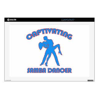 """samba  DANCE DESIGNS 17"""" Laptop Decals"""