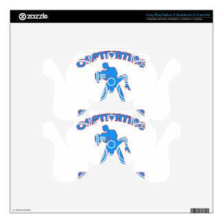 samba  DANCE DESIGNS Decal For PS3 Controller