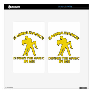 samba DANCE DESIGNS Decals For Kindle Fire
