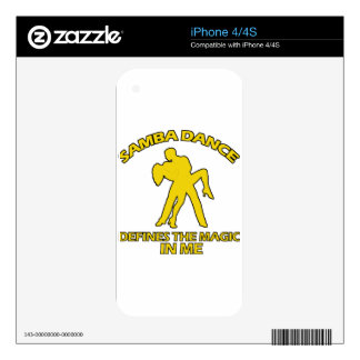 samba DANCE DESIGNS Skin For The iPhone 4S
