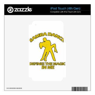 samba DANCE DESIGNS Skins For iPod Touch 4G