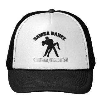 samba dance designs trucker hat