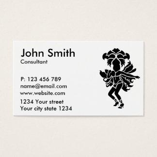 Samba dancer business card