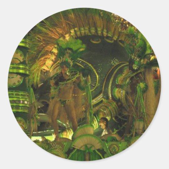 Samba dancers at Carnaval in Rio Classic Round Sticker