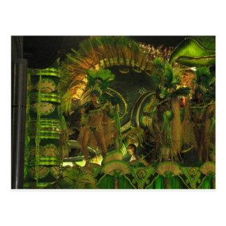 Samba dancers at Carnaval in Rio Post Card