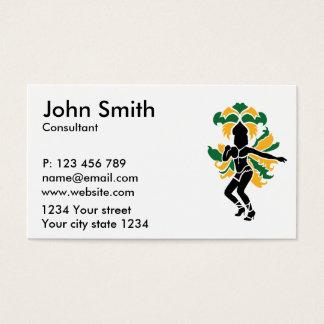 Samba dancing business card