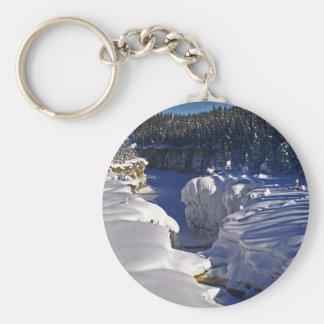 Samba Deh Falls, NT Basic Round Button Keychain
