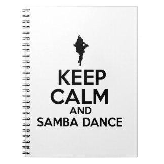 samba design spiral notebook