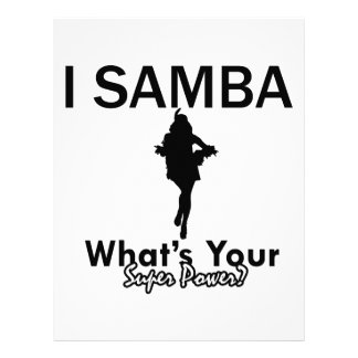 Samba designs personalized letterhead
