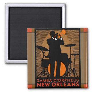 Samba D'Orpheus New Orleans 2 Inch Square Magnet