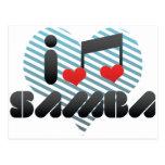 Samba fan post cards