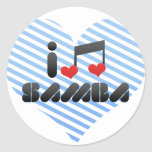 Samba fan stickers