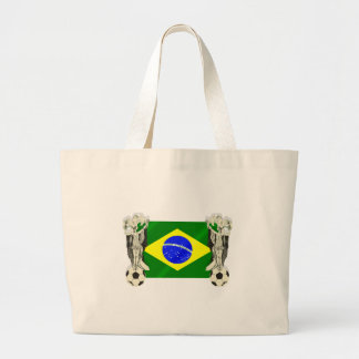 Samba football futebol fans 2010 Brazil flag gifts Tote Bag