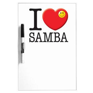Samba Love Dry Erase White Board