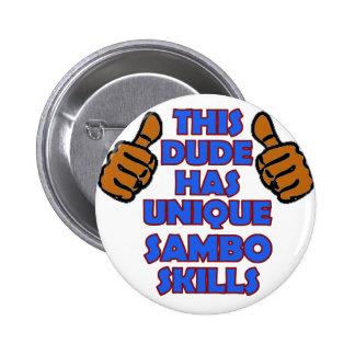 Sambo Designs Pinback Button