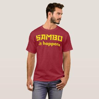 SAMBO -it happens MMA shirt Yellow text