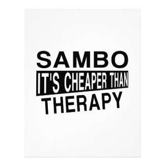 SAMBO IT IS CHEAPER THAN THERAPY LETTERHEAD