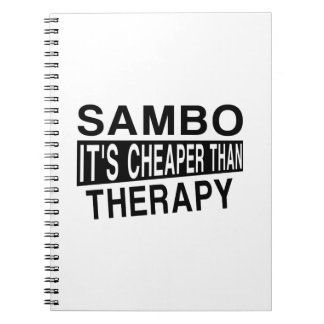 SAMBO IT IS CHEAPER THAN THERAPY SPIRAL NOTEBOOK