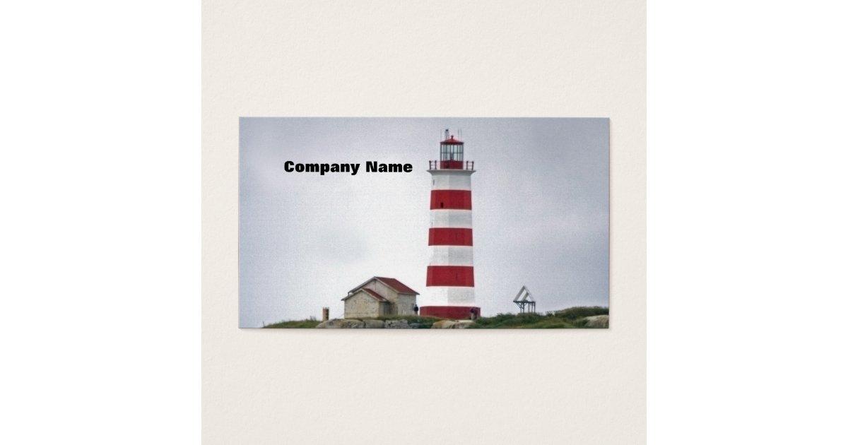 Sambro Island Lighthouse Business Card | Zazzle.com