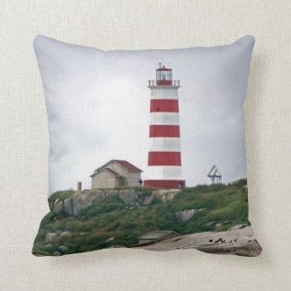 Sambro Island Lighthouse Throw Pillow