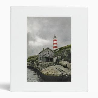 Sambro Lighthouse, Sambro Island, Nova Scotia Vinyl Binder