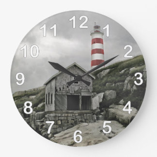 Sambro Lighthouse, Sambro Island, Nova Scotia Large Clock