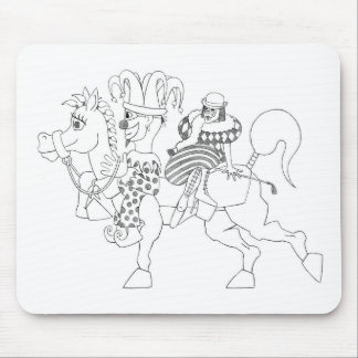 SambukaBlack_harlequin_jester_horseback Tapete De Raton
