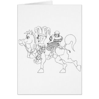 SambukaBlack_harlequin_jester_horseback Tarjeta