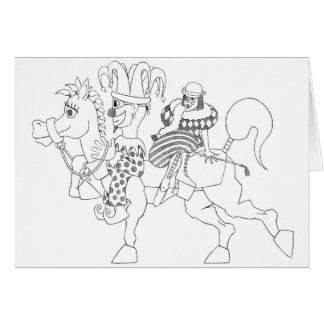 SambukaBlack_harlequin_jester_horseback Felicitaciones