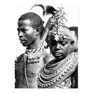 Samburu Boy and Girl Postcard