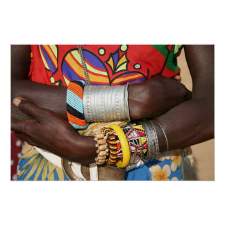 Samburu Jewellery in Kenya, Africa Poster