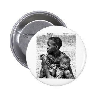 Samburu mother and child pin