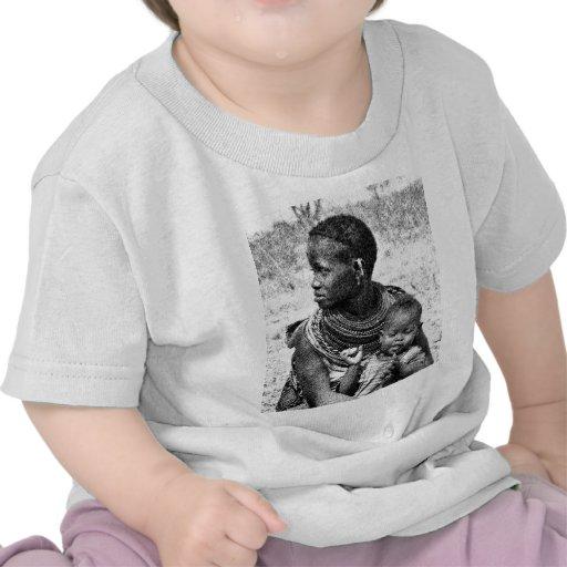 Samburu mother and child tshirts