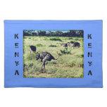 Samburu Ostriches Place Mat